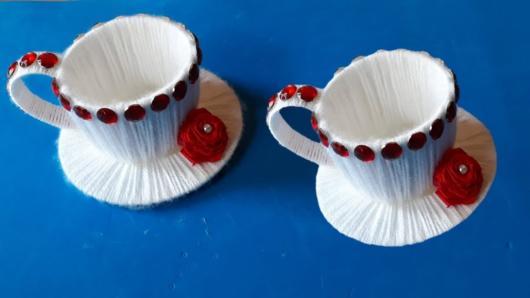 Lembrancinha com copo descartável de café