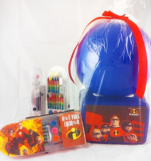 Kits para escola são boas opções de lembrancinha Os Incríveis
