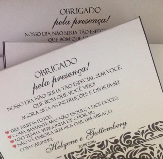 Lindas mensagens em convites personalizados