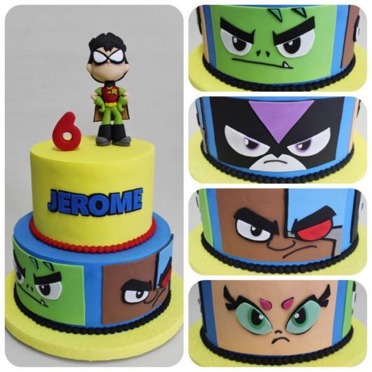 Escolha o melhor personagem para destacar no bolo Jovens Titãs