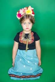 Fantasia frida kahlo: infantil preta e azul