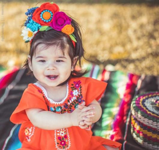 Fantasia frida kahlo: infantil laranja