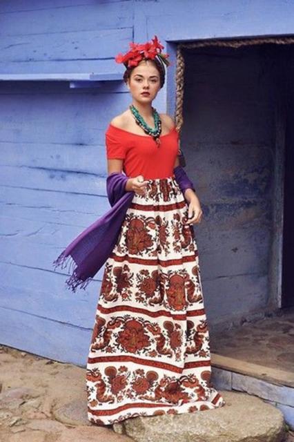 Fantasia frida kahlo: com saia