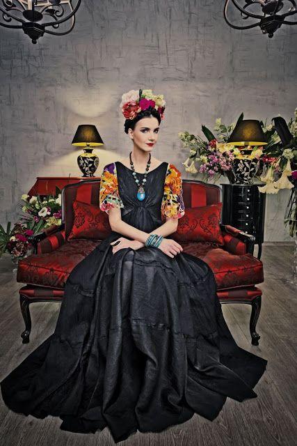 Fantasia frida kahlo: preta