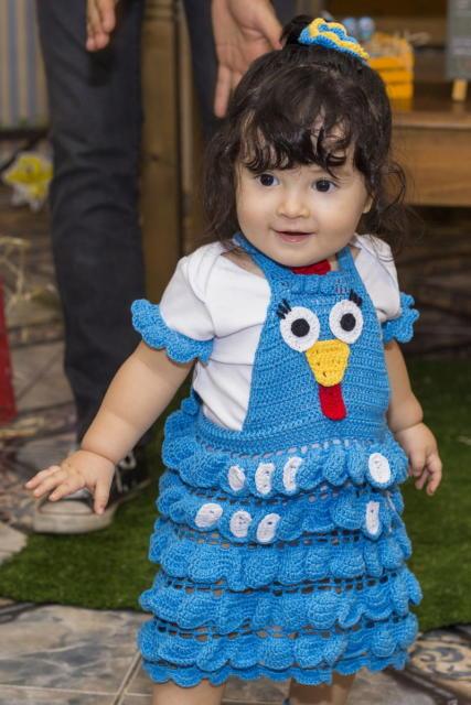 mini vestido fantasia galinha pintadinha