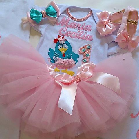 fantasia galinha pintadinha rosa bebê