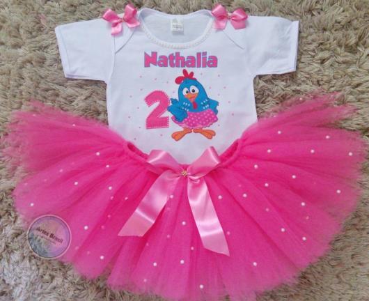 fantasia galinha pintadinha com saia rosa