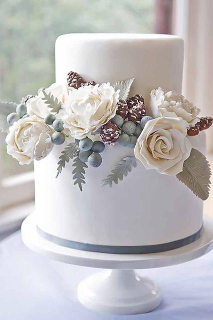Mini wedding: bolo com pasta americana