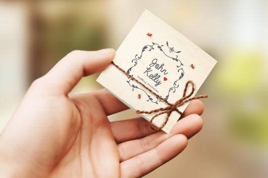 Mini wedding: convite pequeno