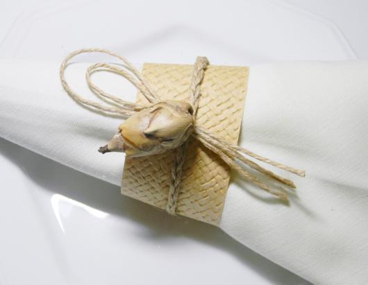 Detalhes rústicos para ornamentar seu porta-guardanapo