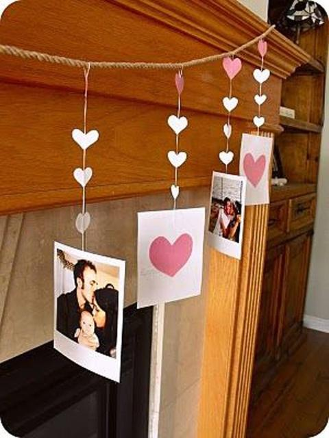 Surpresa para namorada: enfeite com fotos para Dia dos Namorados