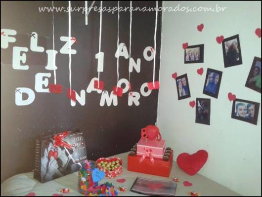 Surpresa para namorada: presentes