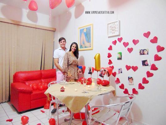 Surpresa para namorada: jantar romântico