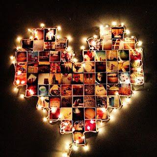 Surpresa para namorada: coração de fotos