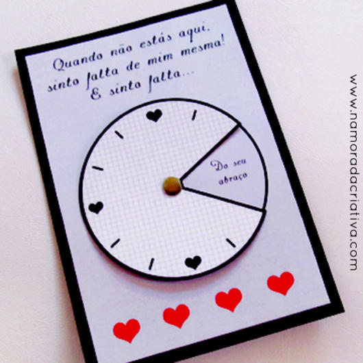 Surpresa para namorada: cartão personalizado