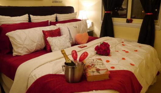 Surpresa para namorada: quarto decorado