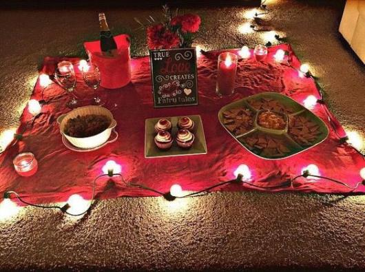 Surpresa para namorada:jantar de aniversário