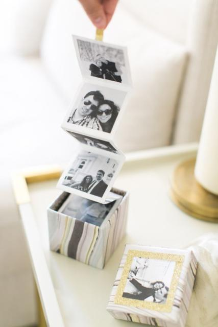 Surpresa para namorada: simples caixa de fotos