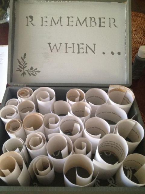 Surpresa para namorada: simples caixa das lembranças