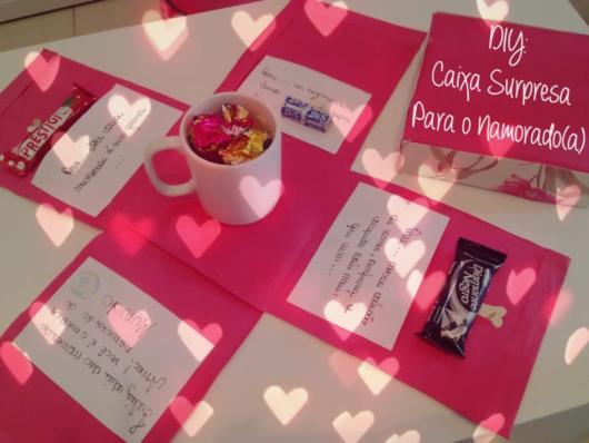 Surpresa para namorada: simples kit café da manhã