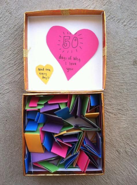 Surpresa para namorada: caixa surpresa com frases
