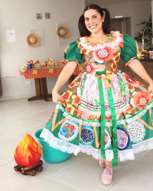 Vestido de festa junina: plus size