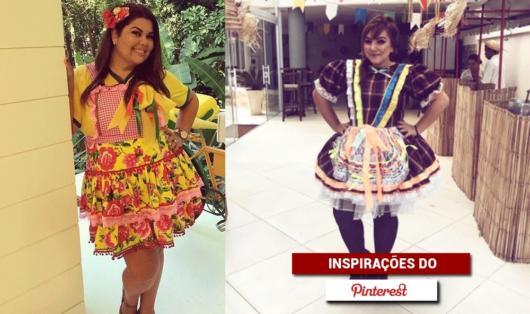 Vestido de festa junina: plus size amarelo