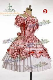 Vestido de festa junina: vermelho com laço