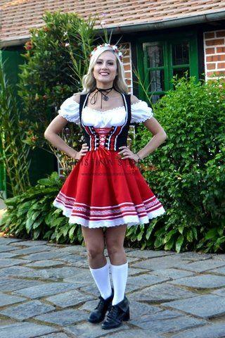 Vestido de festa junina: vermelho