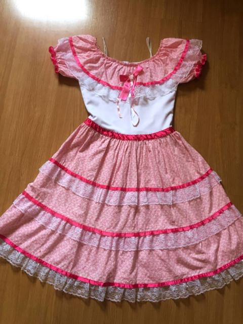 Vestido de festa junina: infantil rosa