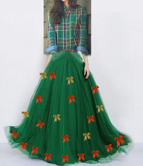 Vestido de festa junina: longo verde