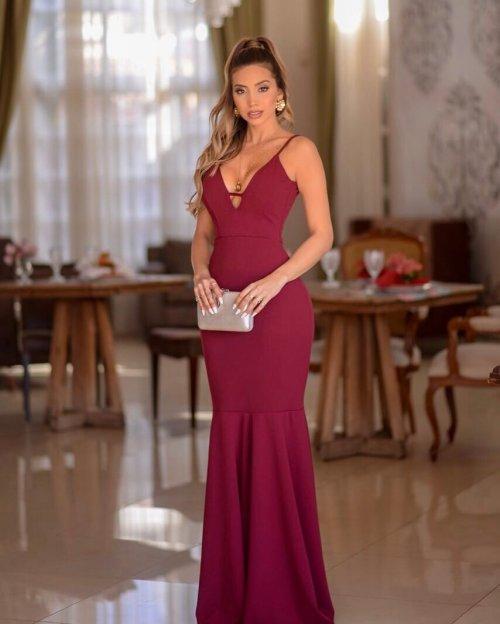 cb2e69796 Vestido de Madrinha Marsala – 74 Ideias de modelos espetaculares!