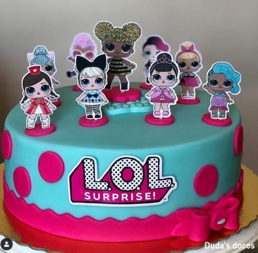 bolo azul e pink