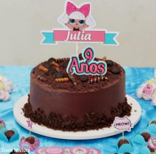 bolo de chocolate personalizado