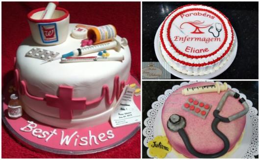 três ideias de bolos para enfermeiras
