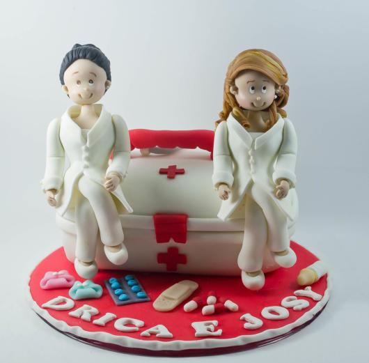 bolo de pasta americana enfermagem