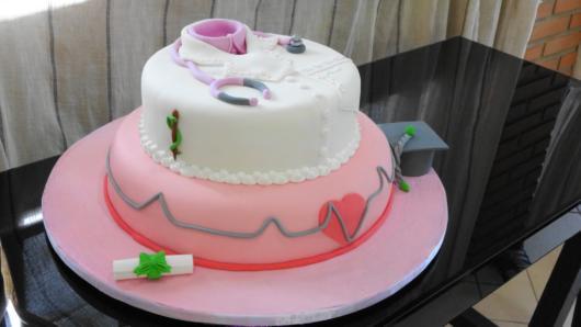 ideia de bolo para enfermeiras