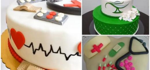 três ideias de bolo de enfermagem