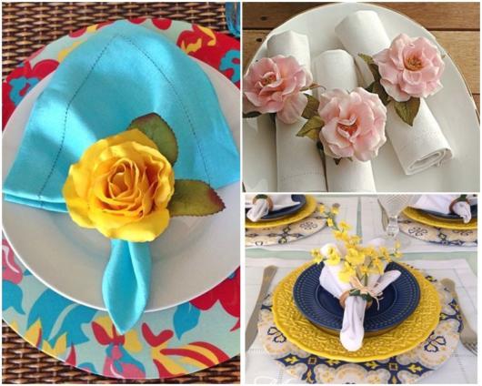 ideias com flores artificiais