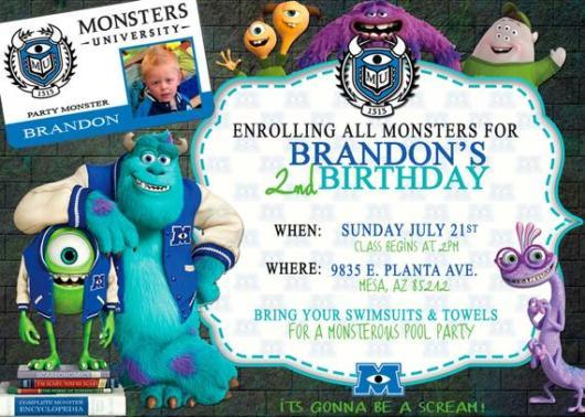 convite Monstros S.A.