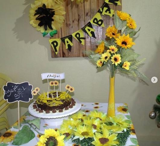 Decoração de festa Girassol de aniversário