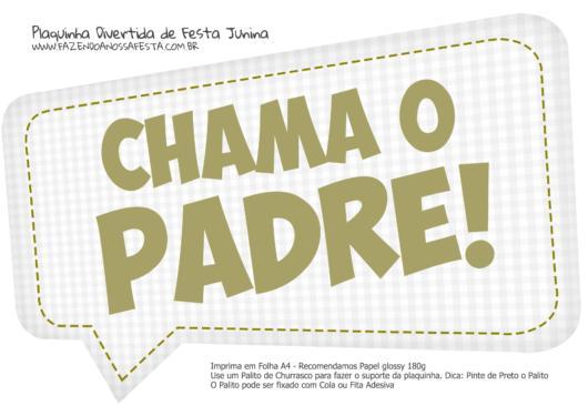 plaquinha para Festa Junina para imprimir