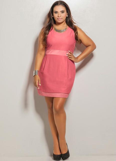 vestido rosa curto simples para madrinha