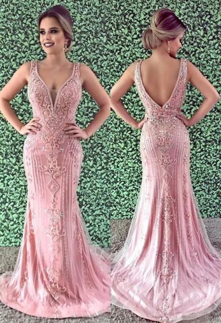 vestido rosa longo para madrinha