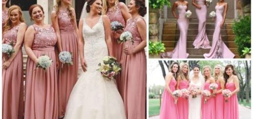 Vestidos rosas para madrinhas de casamento