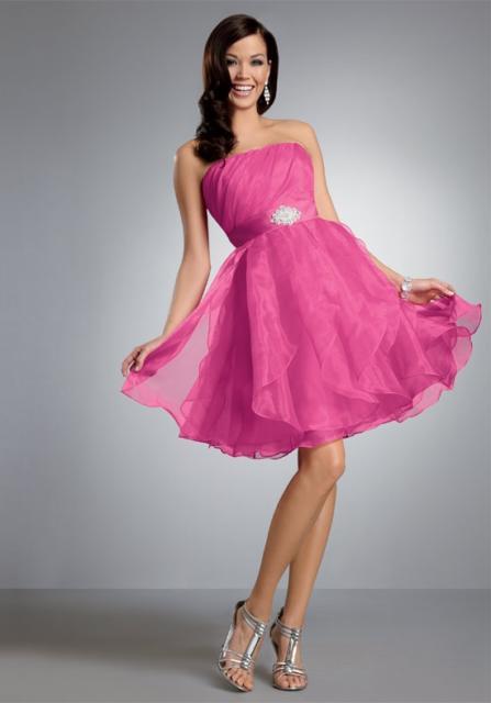 vestido rosa curto para madrinha