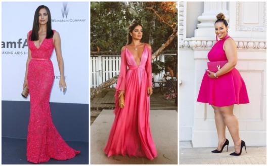 Vestidos rosa pink para madrinhas