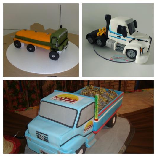 Você pode confeccionar um caminhão lindo usando biscuit ou pasta americana