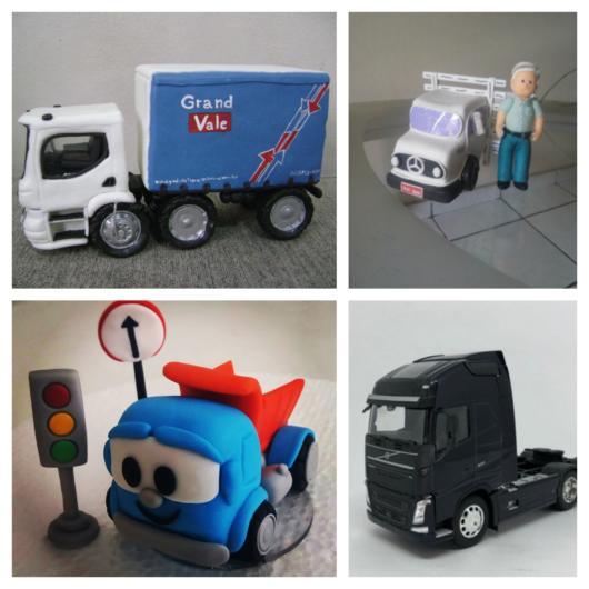 Moldes e miniaturas de caminhões