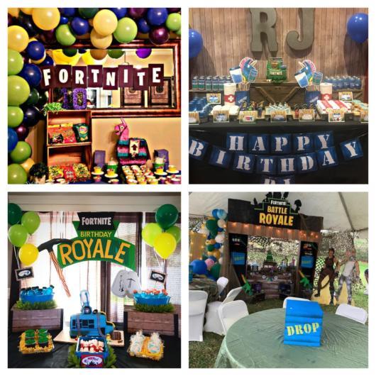 Dicas de decoração de festa Fortnite em 70 fotos incríveis!